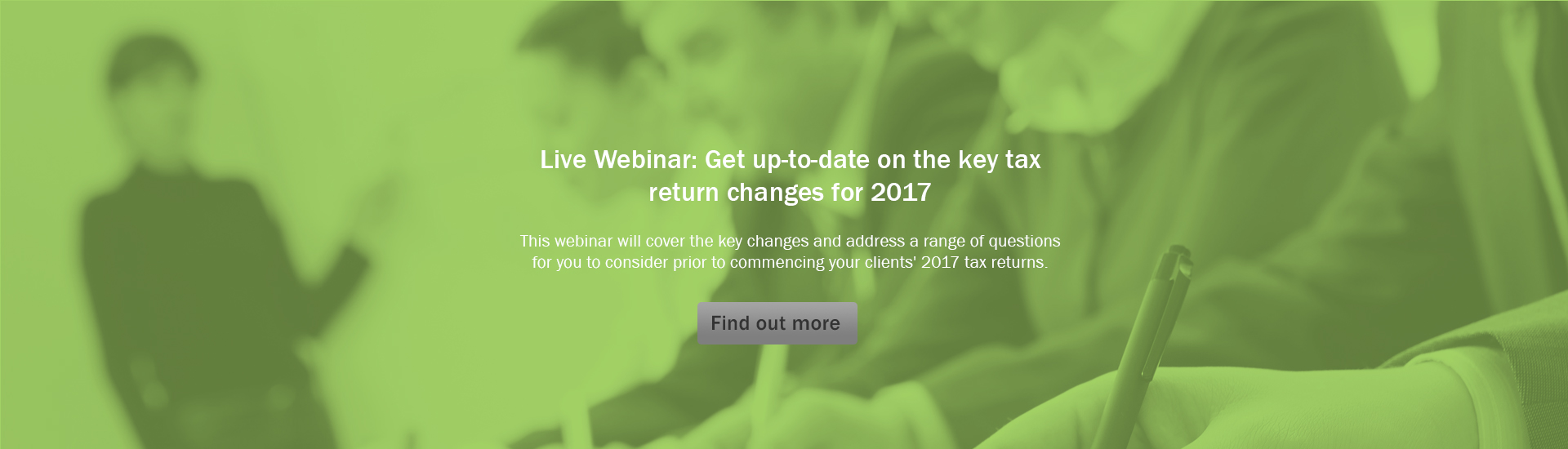 Tax Return Changes for 2017 - Main Banner Image