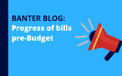 Progress of bills pre-Budget