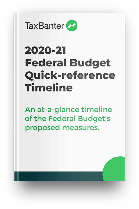 TaxBanter Federal Budget Quick-reference Timeline